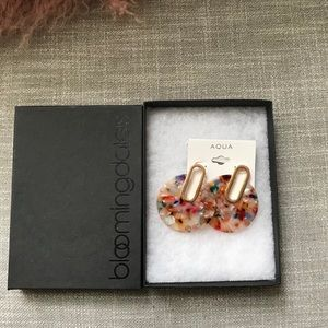 NWT (box) Aqua Earrings
